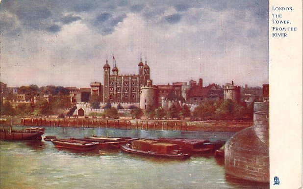 The London Tower from the River, 1904 Raphael Tuck  and Sons Vintage Postcard - 3578