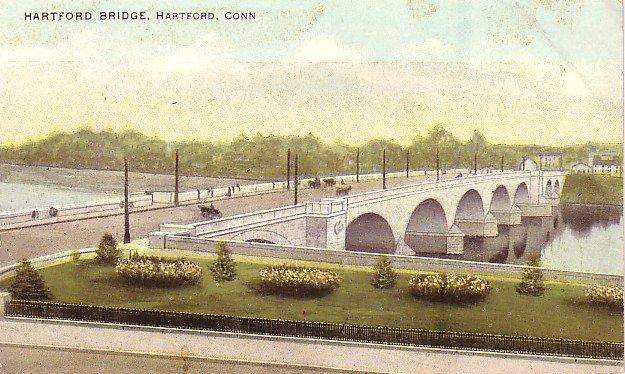 Hartford Bridge in Connecticut CT, Vintage Postcard - 3592