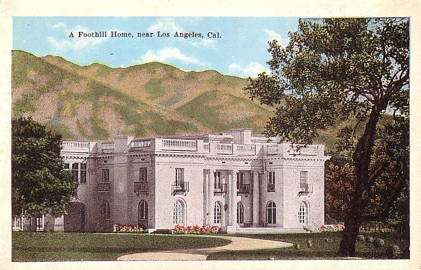A Foothill Home near Los Angeles California CA, Vintage Postcard - 3593
