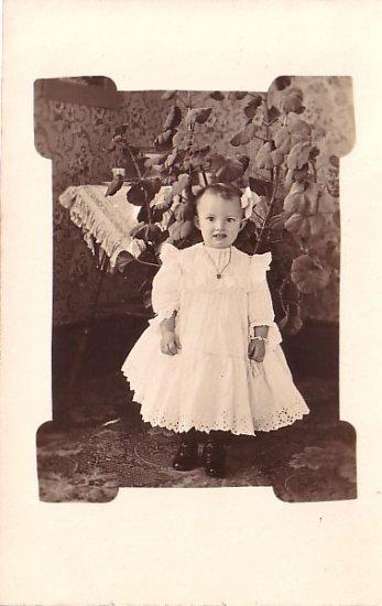 Little Lura Alberta Morse Real Photo Post Card, RPPC - 3614