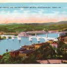 Market Street and Walnut Street Bridges in Chattanooga Tennessee TN Vintage Postcard - 3636