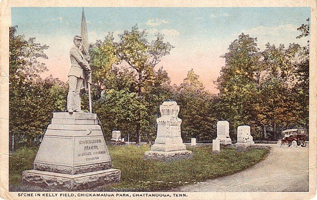 Scene in Kelly Field, Chickamauga Park, Chattanooga Tennessee TN Vintage Postcard - 3654