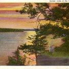 Lake of the Ozarks Sunset View, Missouri MO Curt Teich 1938 Linen Postcard - 3655