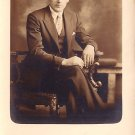 Gentleman Sitting in Ornate Chair Real Photo Post Card RPPC - 3661
