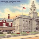 Cumberland County Court House in Bridgeton New Jersey NJ Curt Teich Linen Postcard - 3674