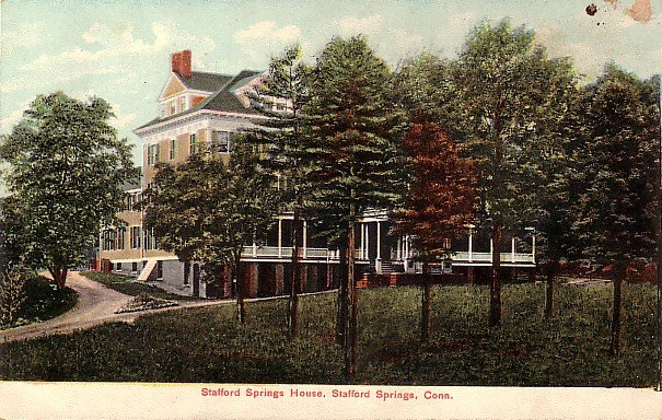 Stafford Springs House in Connecticut CT, Vintage Postcard - 3680