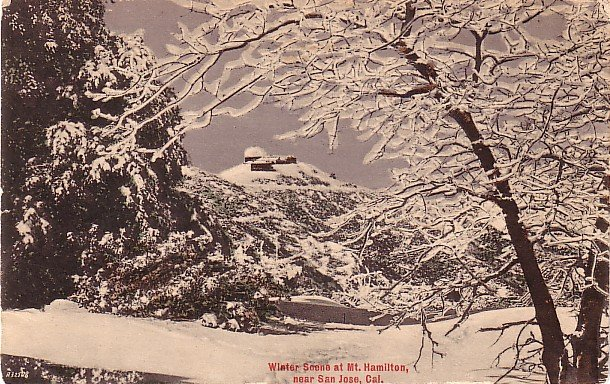 Winter Scene at Mount Hamilton near San Jose California CA 1911 Vintage Postcard - 3697