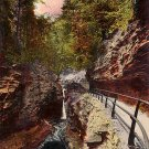 Central Cascade and Tunnel Number 4, Watkins Glen New York NY Vintage Postcard - 3698