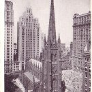 Trinity Church in New York City, NY Vintage Postcard - 3700