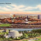 Ford Plant in Dearborn Michigan MI Tichnor Gloss Postcard - 3720