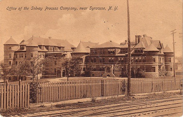 Office of the Solvay Process Company near Syracuse New York NY 1908 Vintage Postcard - 3721