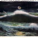 Stormy Clouds by Moonlight, Wildwood By The Sea New Jersey NJ Vintage Postcard - 3735