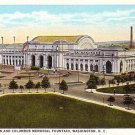 Union Station and Columbus Memorial Fountain in Washington DC Vintage Postcard - 3741