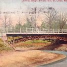 Lincoln Bridge in Forest Park St. Louis Missouri MO 1909 Vintage Postcard - 3755