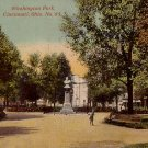 Washington Park in Cincinnati, Ohio OH Vintage Postcard - 3758