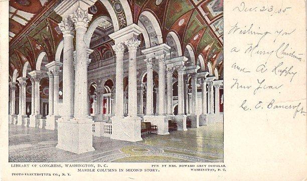 Library of Congress in Washington DC 1905 Vintage Postcard - 3776