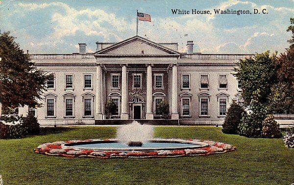 White House in Washington DC 1916 Vintage Postcard - 3777