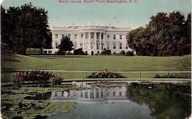 White House South Front in Washington DC Vintage Postcard - 3778