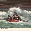 Life Boat in the Breakers Vintage Postcard - 3779