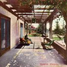 Spanish Pergola in California CA Vintage Postcard - 3782