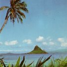 Chinaman's Hat off Oahu Hawaii HI 1960 Curt Teich Chrome Postcard - 3858