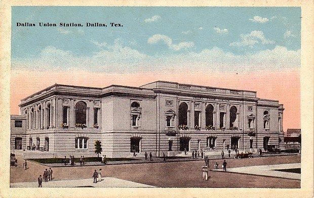 Union Station in Dallas Texas TX Vintage Postcard - 3876