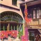 Fan Window in Governor Claiborne's Home New Orleans Louisiana LA Linen Postcard - 3880