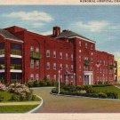 Memorial Hospital in Cumberland Maryland MD Linen Postcard - 0022