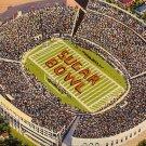 Sugar Bowl at Tulane Stadium in New Orleans Louisiana LA 1948 Linen Postcard - 0027