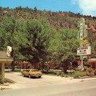 Siesta Motel with Retro Cactus Sign in Durango Colorado CO Chrome Postcard - 0030