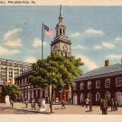Independence Hall in Philadelphia Pennsylvania PA Linen Postcard - 0035