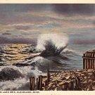 A Wild Night on Lake Erie, Cleveland Ohio OH 1918 Vintage Postcard - 0036