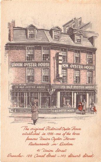 The Original Historical Oyster House in Boston Massachusetts MA 1949 Postcard - 0038