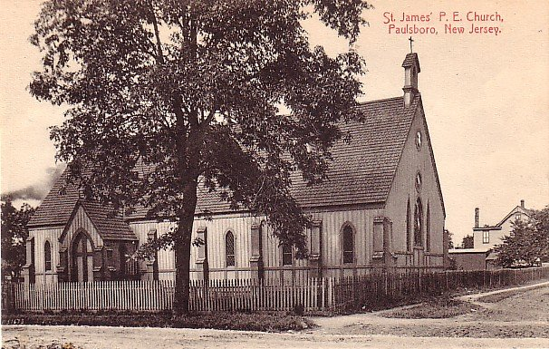 St. James'  Presbyterian Church in Paulsboro New Jersey NJ Vintage Postcard - 0043