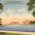 Million Dollar Pier Building in St. Petersburg Florida FL Linen Postcard - 0065
