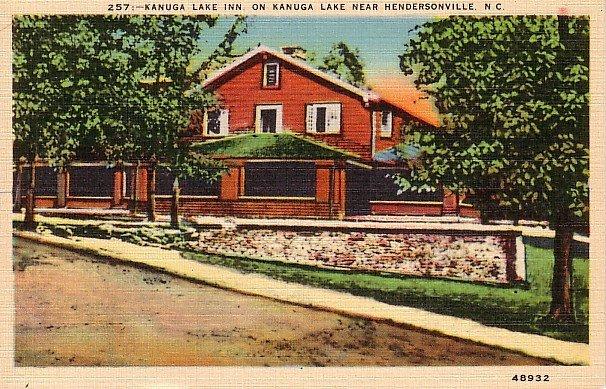 Kanuga Lake Inn, Hendersonville North Carolina NC Linen Postcard - 0066