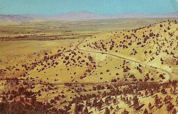 Geiger Grade, Reno, Virginia City Highway in Nevada NV Chrome Postcard - 0067
