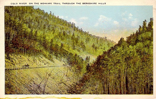 Cold River on the Mohawk Trail through the Berkshire Hills in Massachusetts MA Postcard - 0078