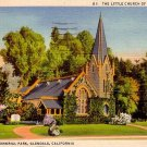 Forest Lawn Memorial Park in Glendale California CA Linen Postcard - 0089
