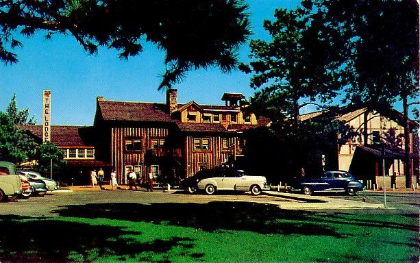 The Lodge, Official Hotel for Visitors to Atomic City, New Mexico NM Chrome Postcard - 0099