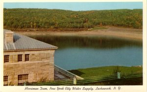 Merriman Dam in Lackawack New York NY Curt Teich Chrome Postcard - 0107