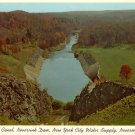 Spillway Canal, Neversink Dam in Neversink New York NY Curt Teich 1957 Chrome Postcard - 0110