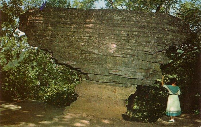 Pivot Rock near Eureka Springs in Arkansas AR Chrome Postcard - 0143