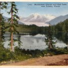 Mendenhall Glacier and Auk Lake near Juneau Alaska AK Vintage Postcard - 0147