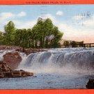 The Falls in Sioux Falls, South Dakota SD 1954 Linen Postcard - 0148