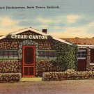 Petrified Forest Headquarters in the North Dakota Badlands, 1942 Linen Postcard - 0197
