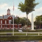 Court House, Soldier's Monument in Farmington Maine ME 1907 Vintage Postcard - 0199