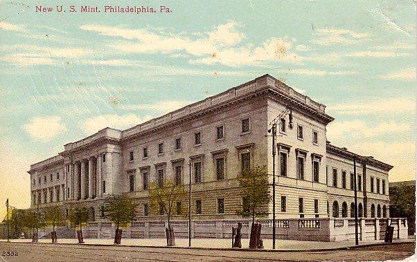 United States Mint Building in Philadelphia, Pennsylvania PA Vintage Postcard - 0212