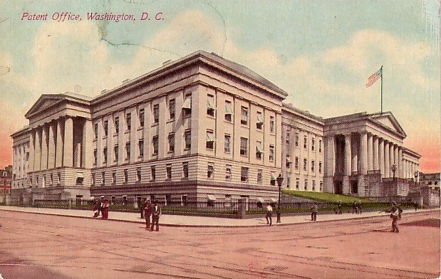 Patent Office in Washington DC 1910 Vintage Postcard - 0213