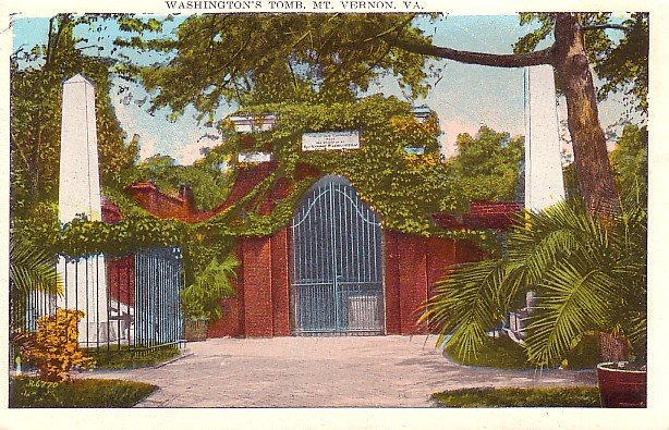 Washington's Tomb in Mount Vernon, Virginia VA Vintage Postcard - 0223